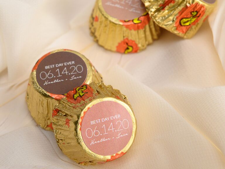 Personalized peanut butter cups cheap wedding favors