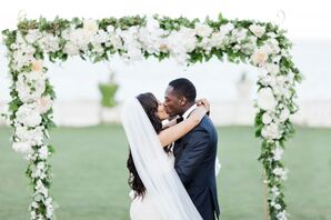 Romantic White Floral Wedding Arch
