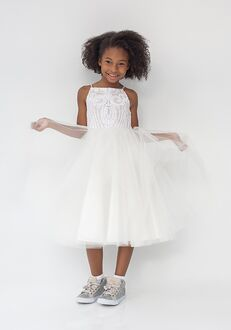 La Petite by Hayley Paige 5924-Northie Ivory Flower Girl Dress