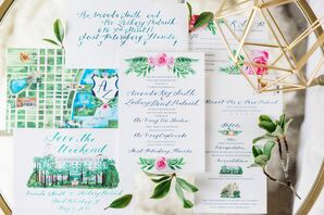 Illustrated Watercolor Invitations