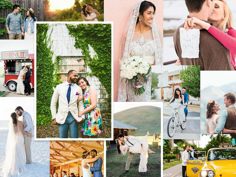 collage of couples celebrating wedding