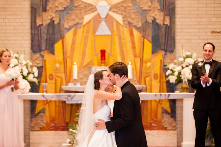 After saying their I do's, Allison and Addison kissed at the altar.