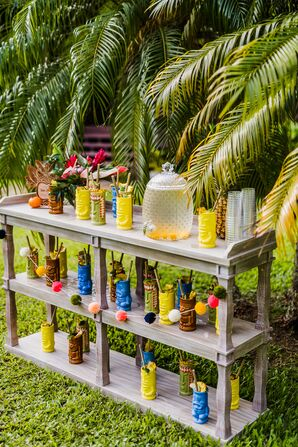 Tropical Signiature Cocktail Display