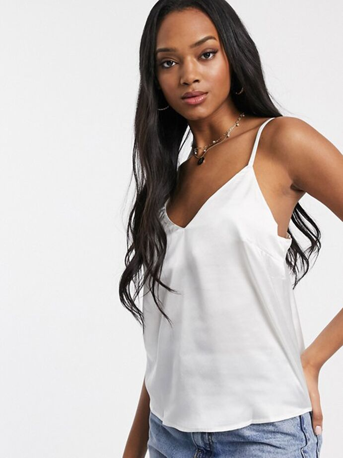 White satin camisole