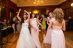 Bride and Her 'maids on the Dance Floor