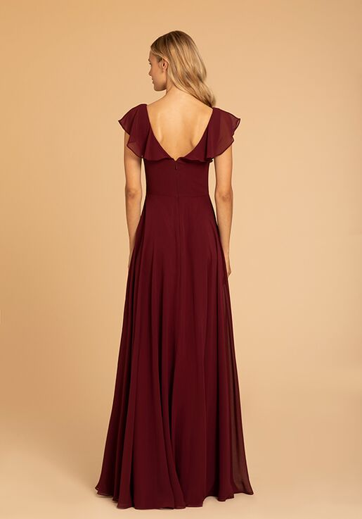 Hayley Paige Occasions 52010 V-Neck Bridesmaid Dress