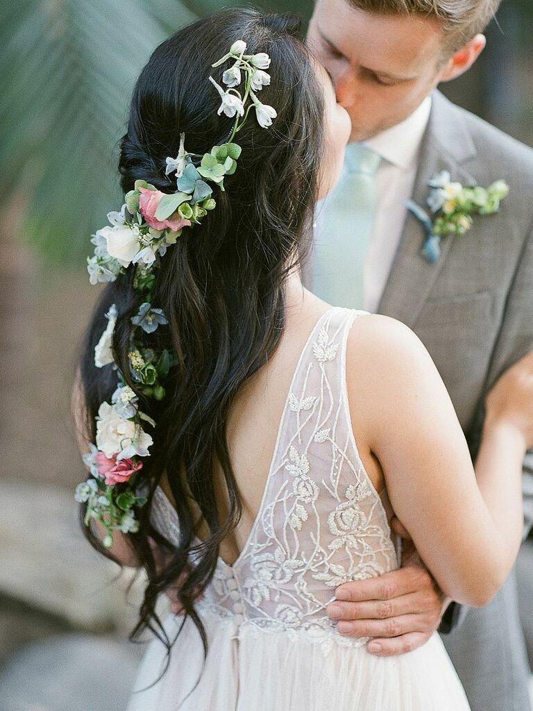wedding braid hairstyles flower vine