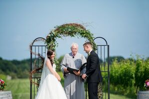 Romantic Vineyard Outdoor Ceremony