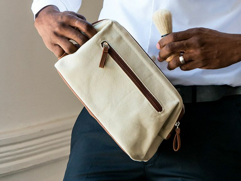 toiletry bag engagement gift for him