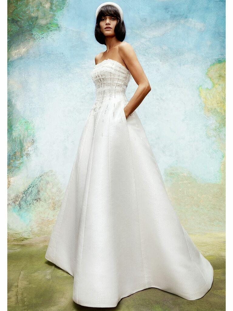 Viktor&Rolf wedding dress strapless a-line gown