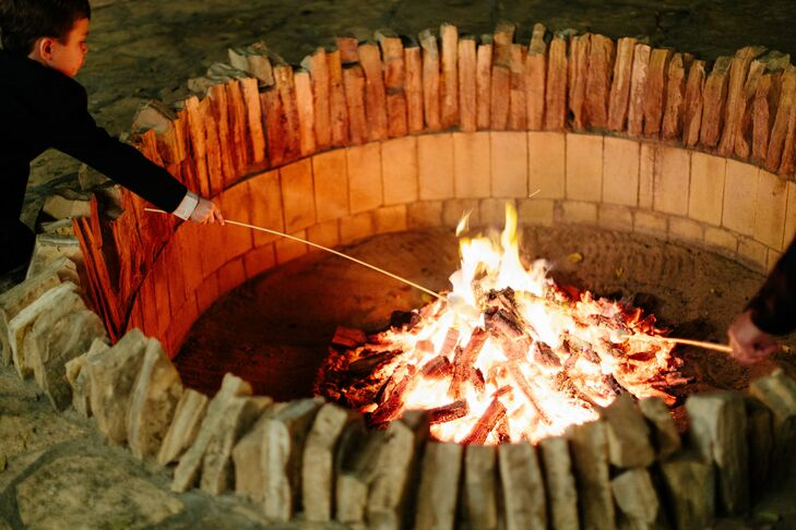 Fire Pit at Marathon, Texas Wedding