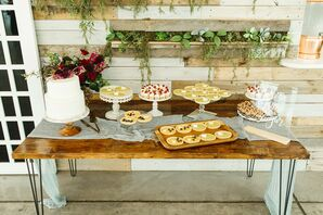 Rustic Farm Table with Cakes and Desserts