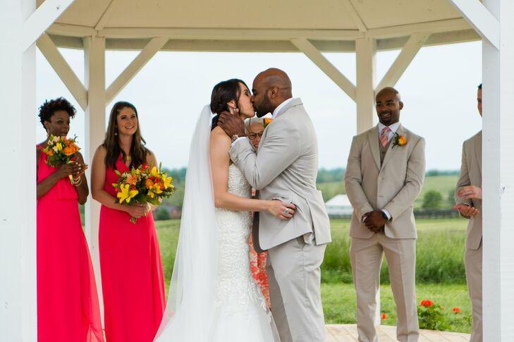 Floral Lace Bodice Wedding Dress
