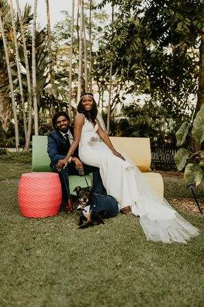 Wedding Reception at the Miami Beach Botanical Garden in Miami Beach, Florida