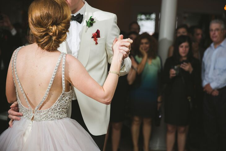 """The couple danced to """"Our Love is Here to Stay"""" by New Orleans native Louis Armstrong."""