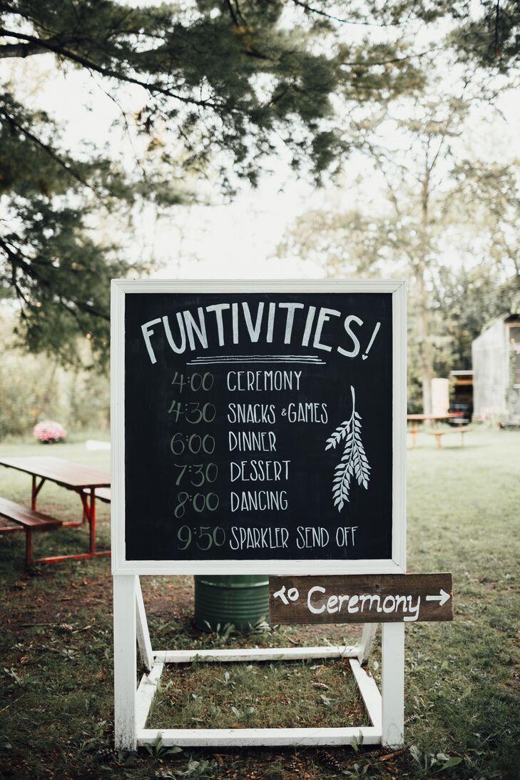 Cocktail Hour Chalkboard Sign