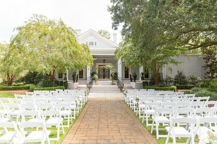 Ceremony Setup at O'Donnell House Wedding in Sumter, South Carolina