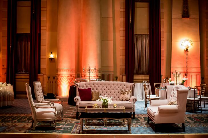 Formal White and Gold Reception Lounge