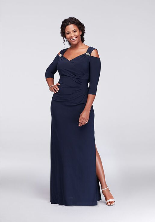 David's Bridal Mother of the Bride R&M Richards Style 8950DW Blue Mother Of The Bride Dress