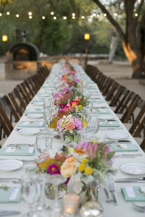 Long Tables With Bright Centerpieces