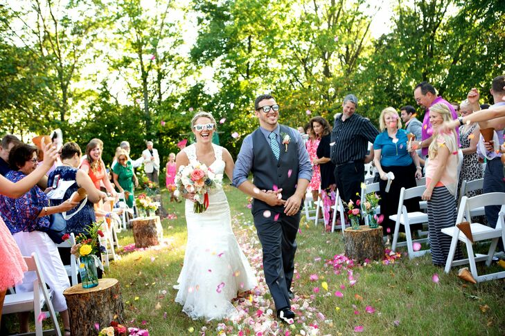 Katie and Marshall wanted their day to reflect their fun, eclectic personalities, so they chose a rustic, vintage theme that celebrated their love for