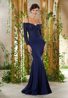 MGNY 71916 Blue Mother Of The Bride Dress