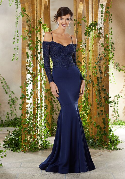 MGNY 71916 Blue,Purple Mother Of The Bride Dress