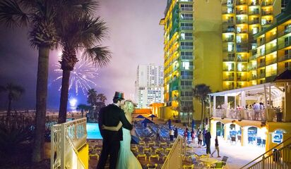 Florida Daytona Beach The Plaza Resort And Spa Front Photo