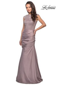 La Femme Evening 25471 Pink Mother Of The Bride Dress