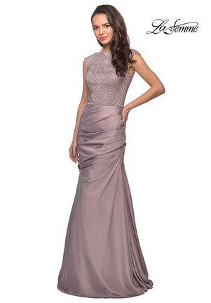 La Femme Evening 25471 Pink Mother Of The Bride Dress