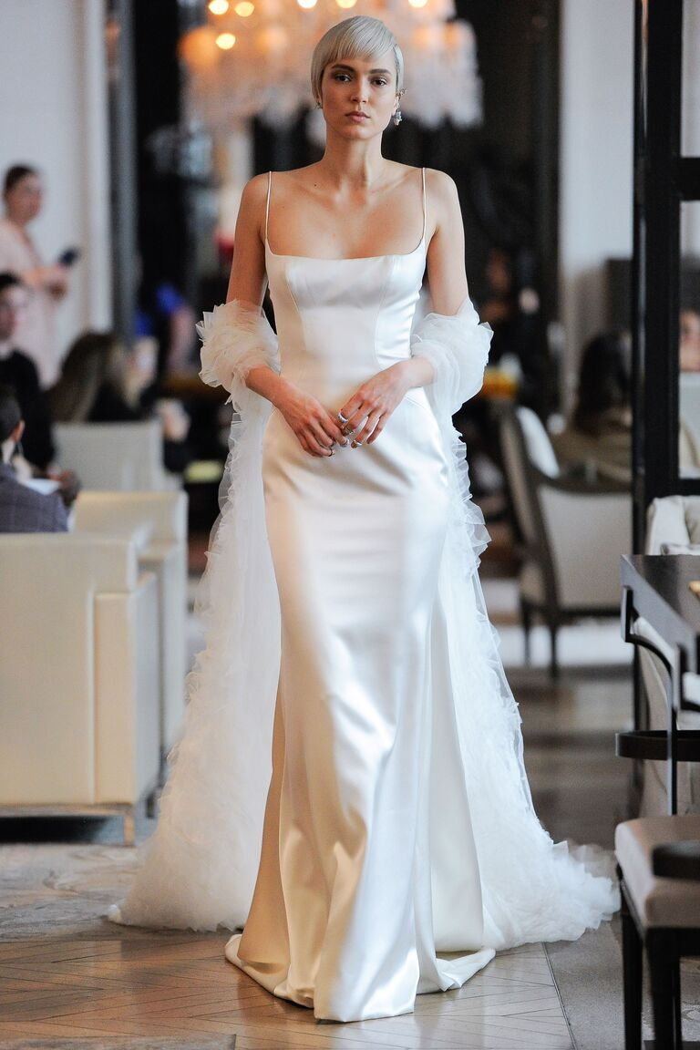 Ines Di Santo​​ simple sexy wedding dress