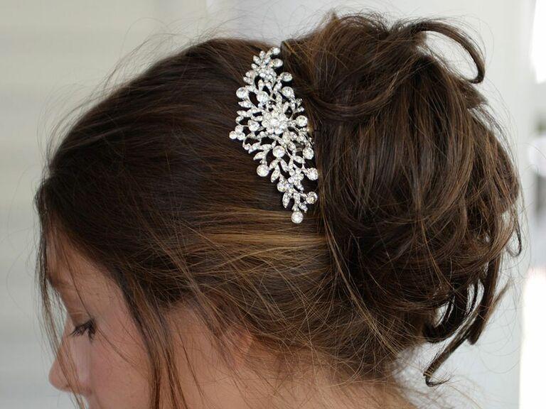 3ab92e67b Mariel crystal petals wedding comb accessory - wedding hair accessories