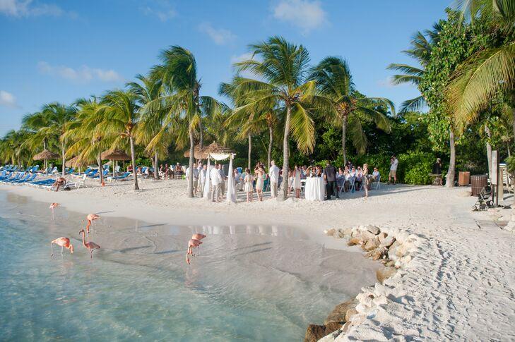 Aruba Destination Wedding | Beachfront Aruba Destination Wedding Ceremony