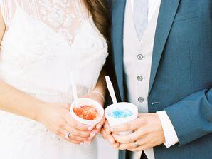Snow Cone Wedding Reception Desserts