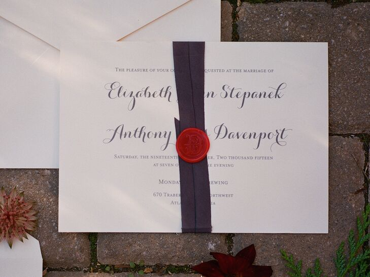 Wax Seal and Ribbon Accented Invitations