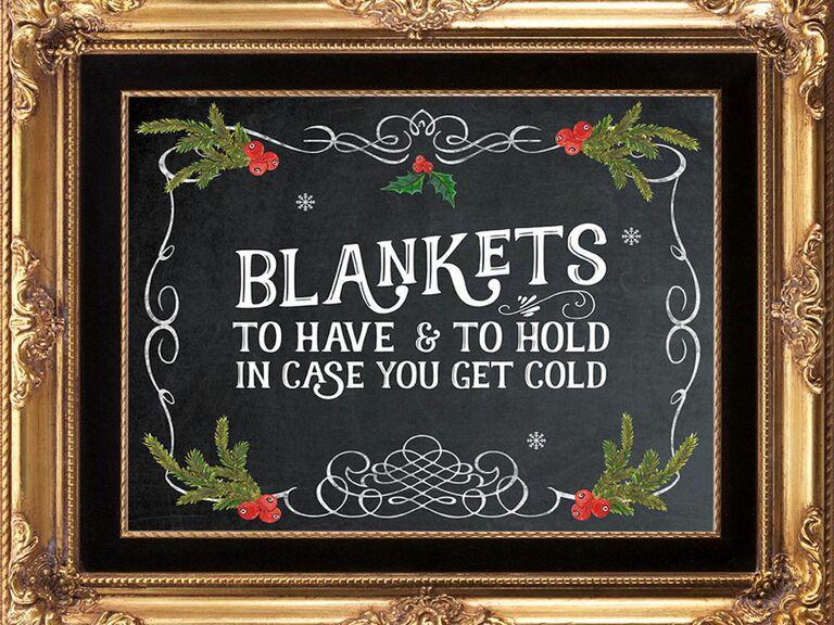 blanket favor sign