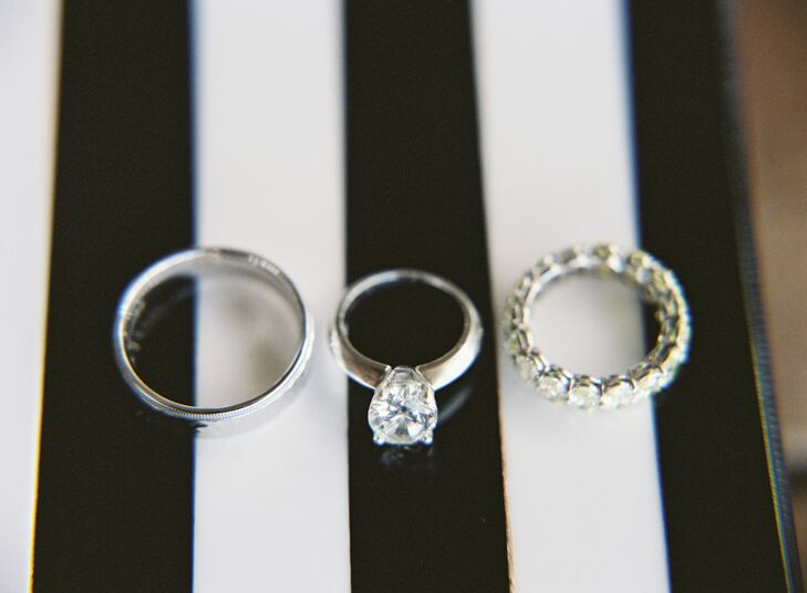 Brianna's beautiful rings were designed by Golkonda.
