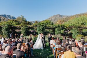 Outdoor Ceremony with Mountain Backdrop