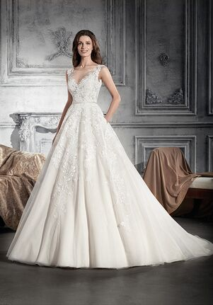 Demetrios 745 A-Line Wedding Dress