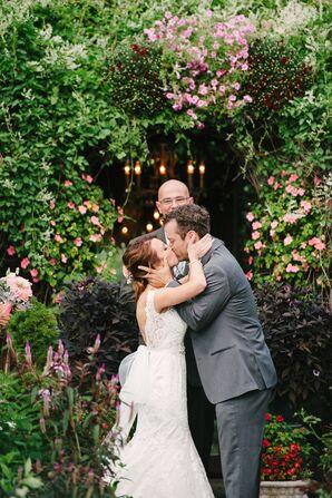 Rustic Garden Wedding Ceremony