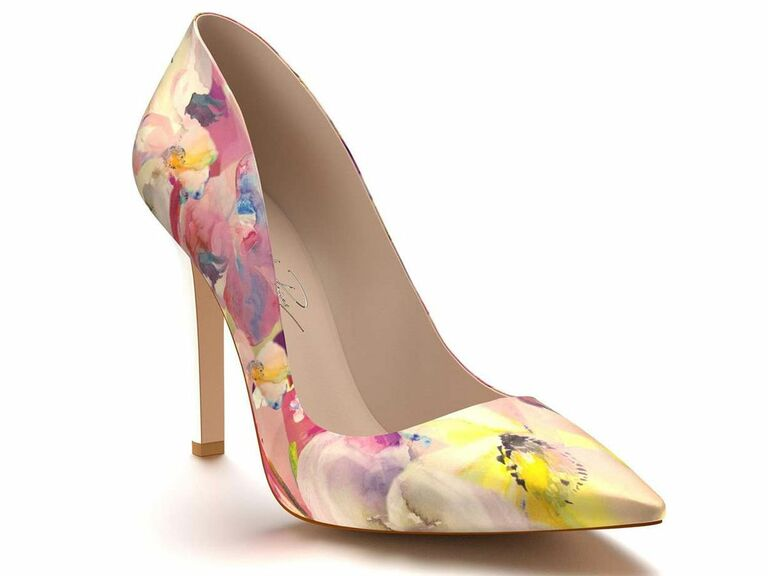 Shoes of Prey floral colorful wedding shoes