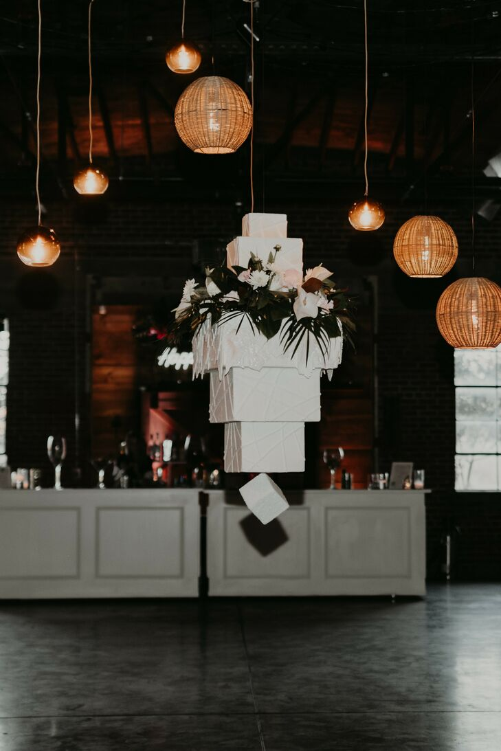 Hanging Wedding Cake at The Hudson in Wichita, Kansas