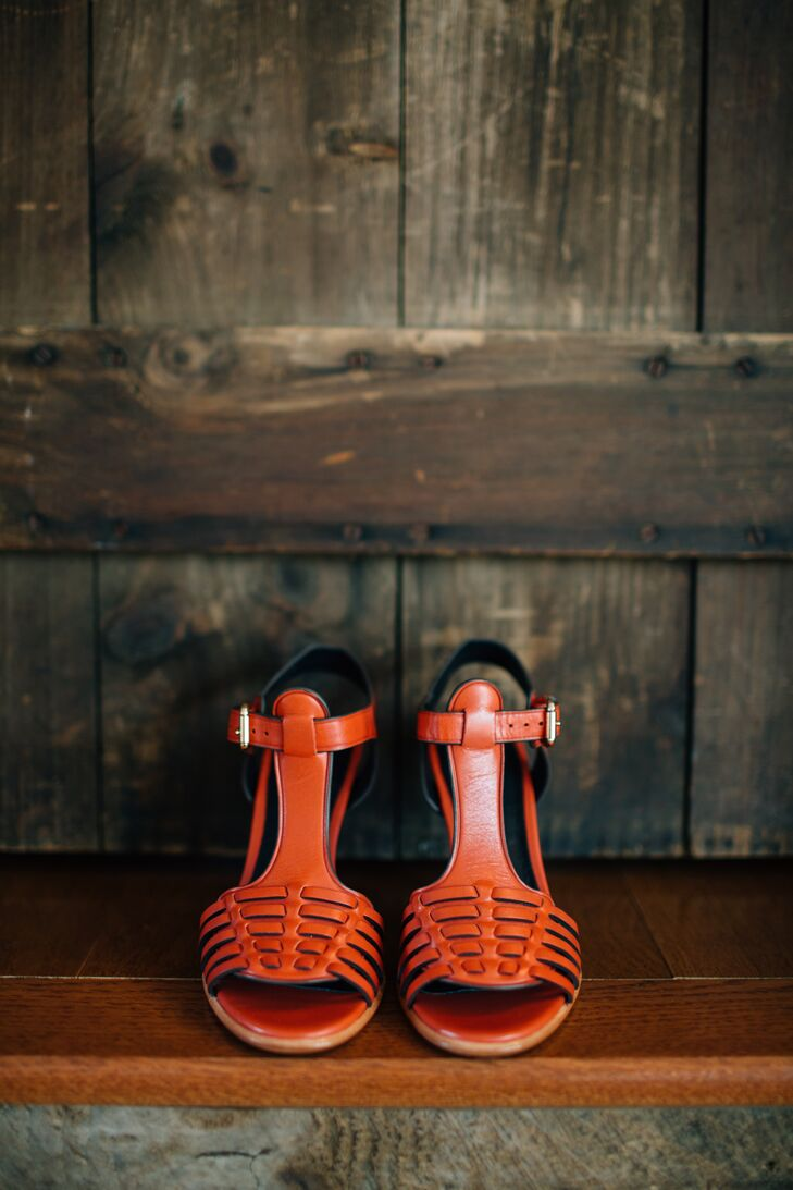 Casual Red Bridal Shoes