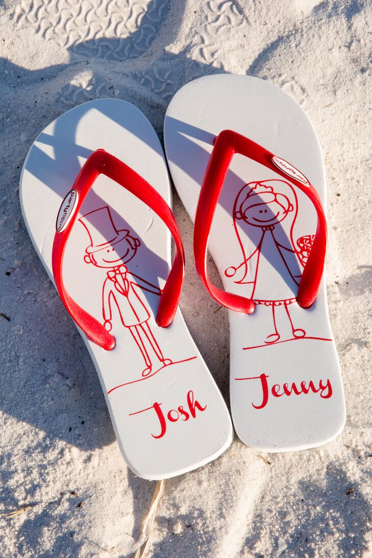9375cfbde Personalized Flip Flop Wedding Favors
