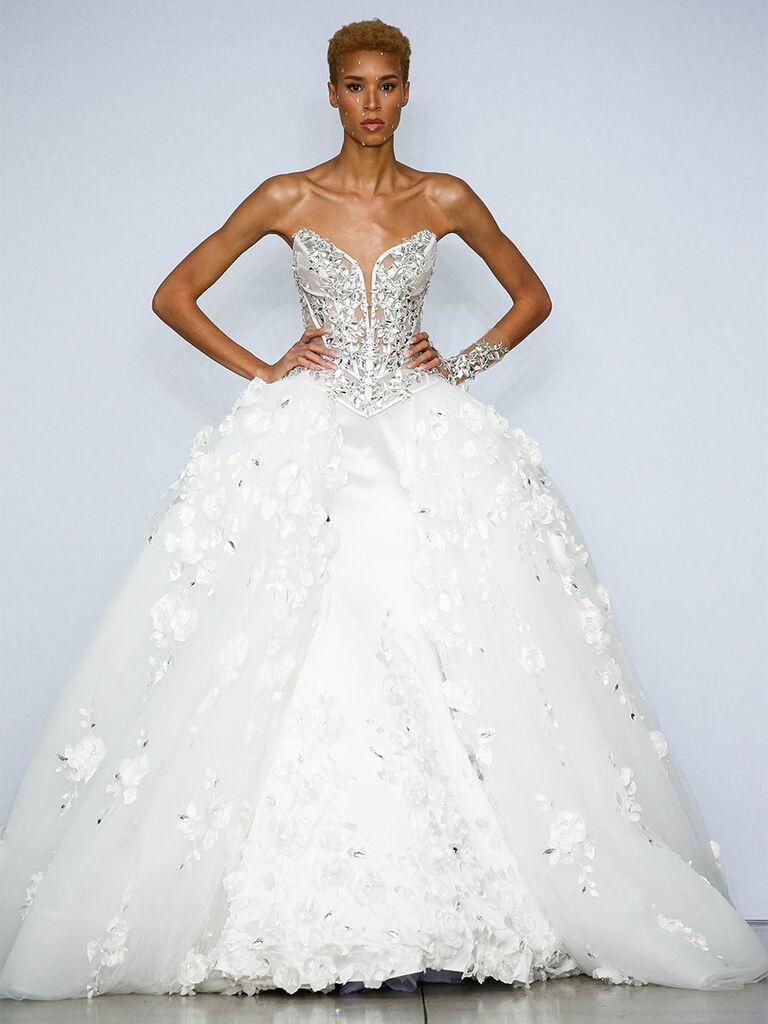 Pnina Tournai wedding dress crystal bodice ball gown