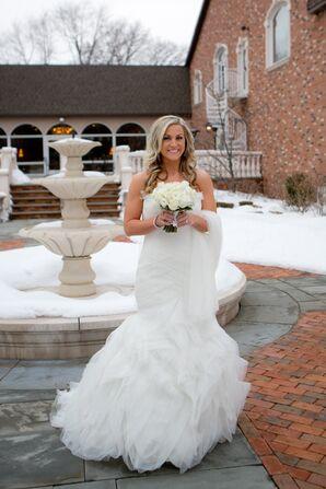 Mermaid-Style Wedding Dress at Winter Wedding