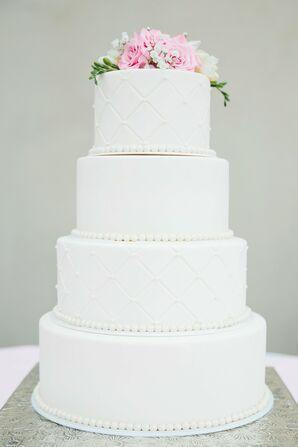 Simple, Classic White Wedding Cake in Gilbert, Arizona