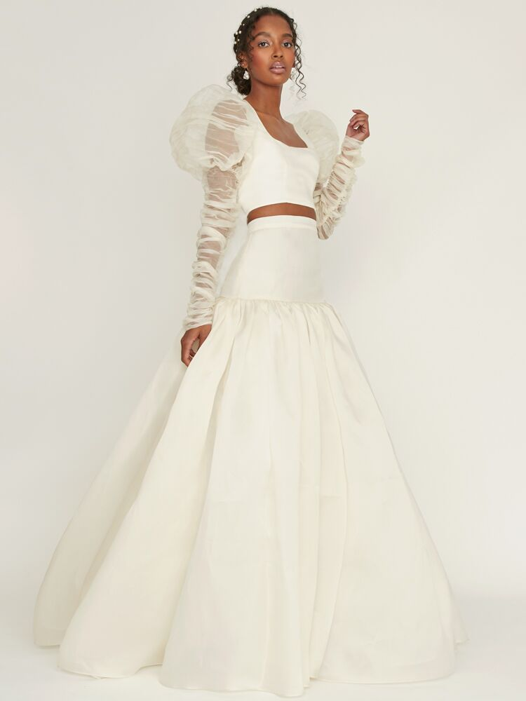 Odylyne The Ceremony crop top with a drop waist skirt