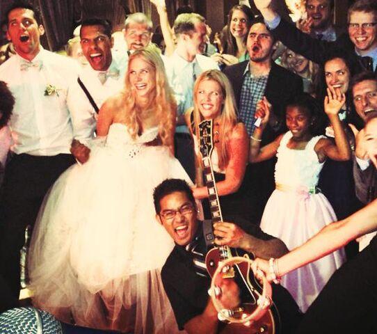 Brass band chicago wedding invitations