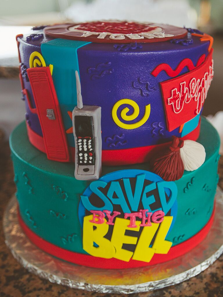 'Saved by the Bell' themed groom's cake idea